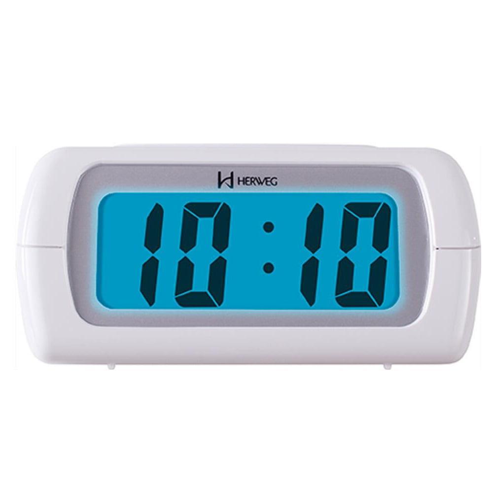 Despertador Herweg Digital Branco Luminoso 2981 021