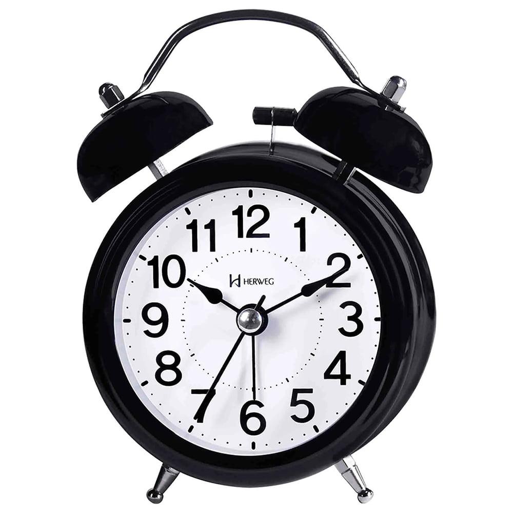 Despertador Relógio Herweg Preto Brilhoso - 2707 034