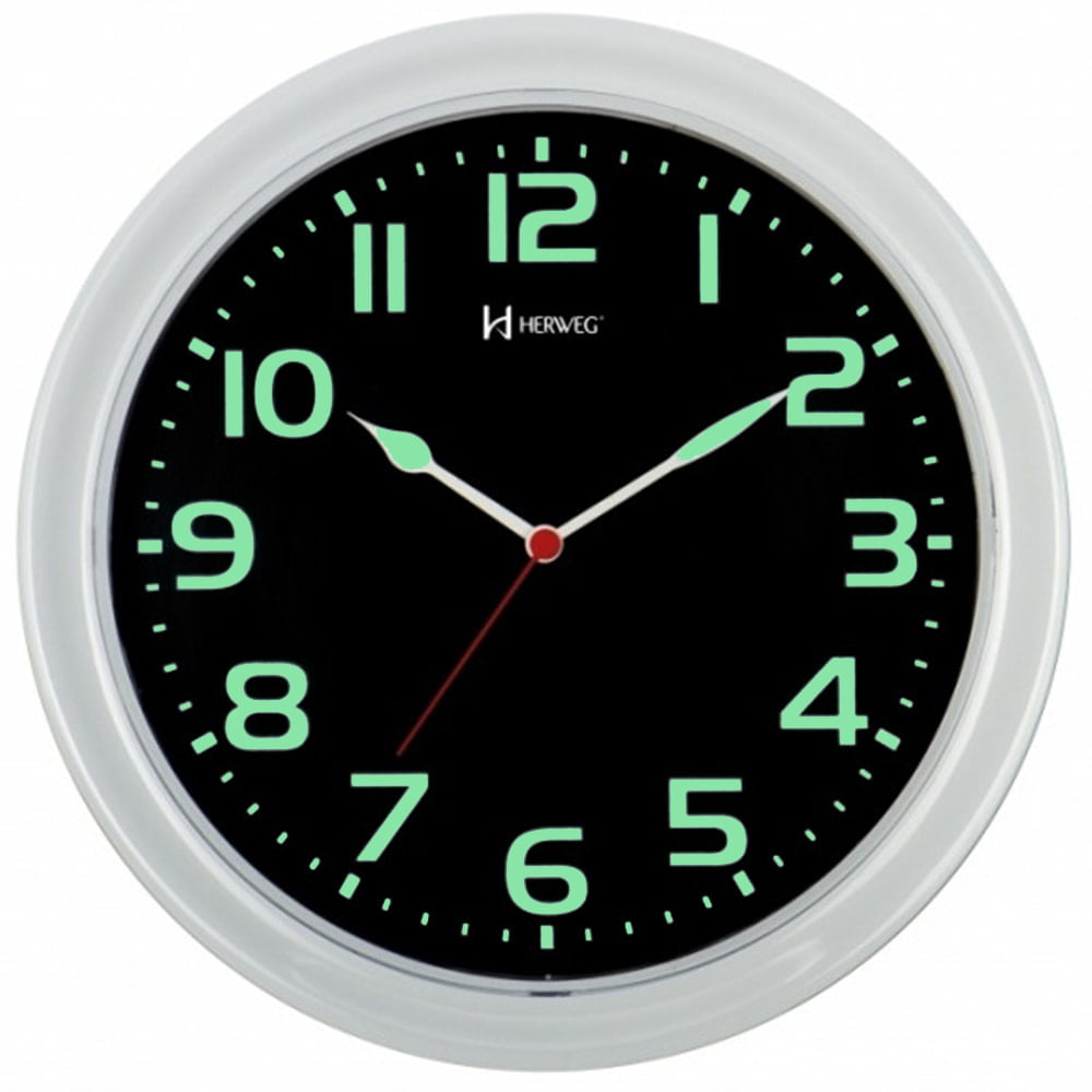 Relógio de Parede Fluorescente Herweg Verde 660016 196