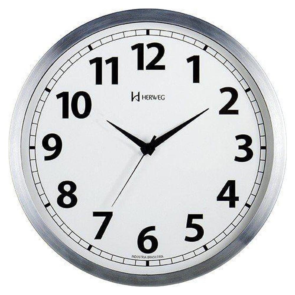 Relógio Parede Herweg 6710 079 Alumínio Escovado 25cm