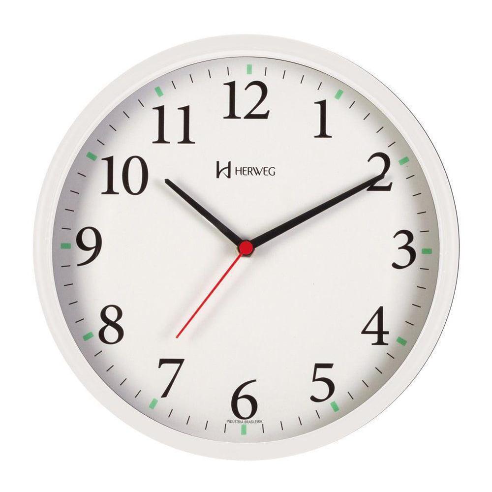 Relógio Silencioso Parede 26cm Contínuo Herweg 6126SO-021