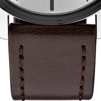 Relógio Technos Pulseira de Couro Masculino Steel Quartz 2115MPP/1K